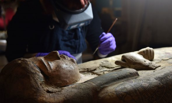 Paintings Discovered Inside the Coffin of An Egyptian Mummy